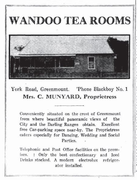 1931-10-08 Wandoo tea rooms Greenmount - full text