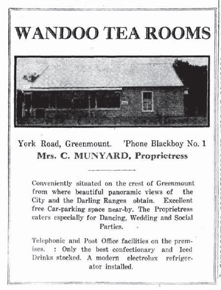 1931-10-08 Wandoo tea rooms Greenmount - full text